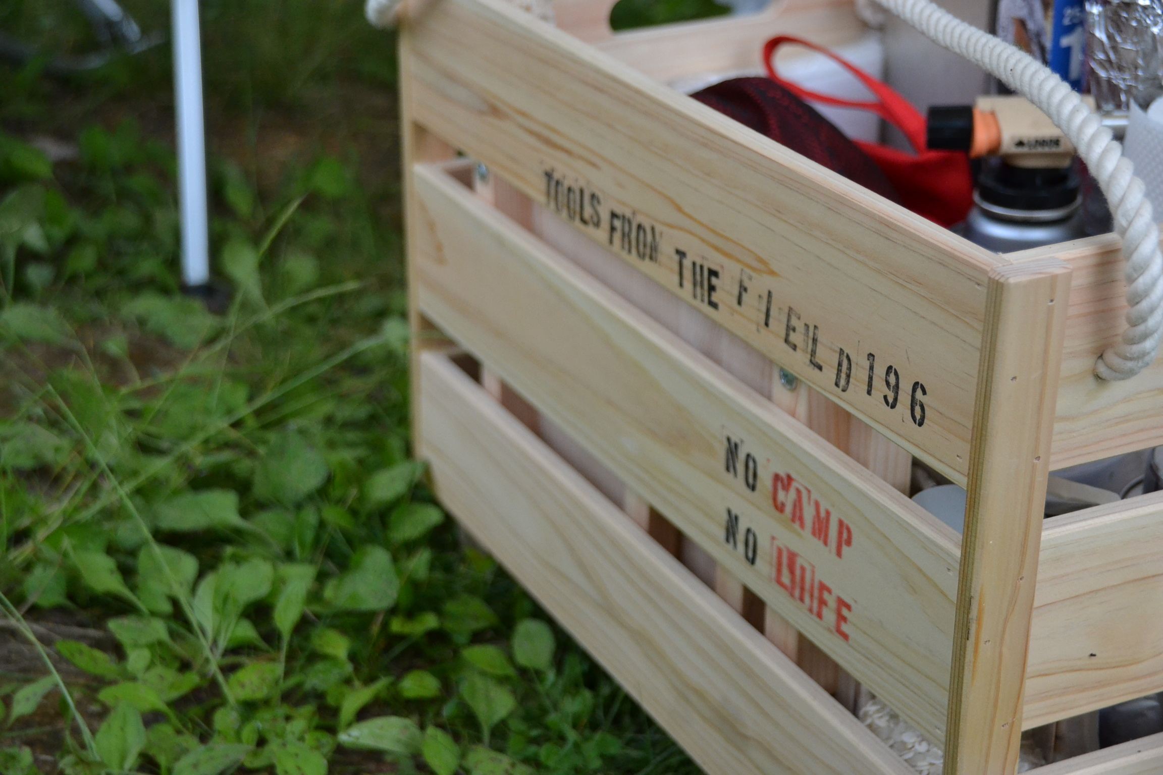 196 木箱 キャンプ道具