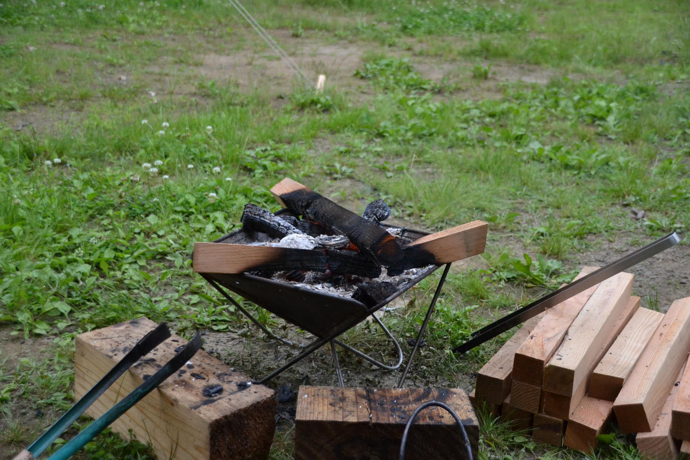 甫喜ヶ峰 キャンプ 焚き火