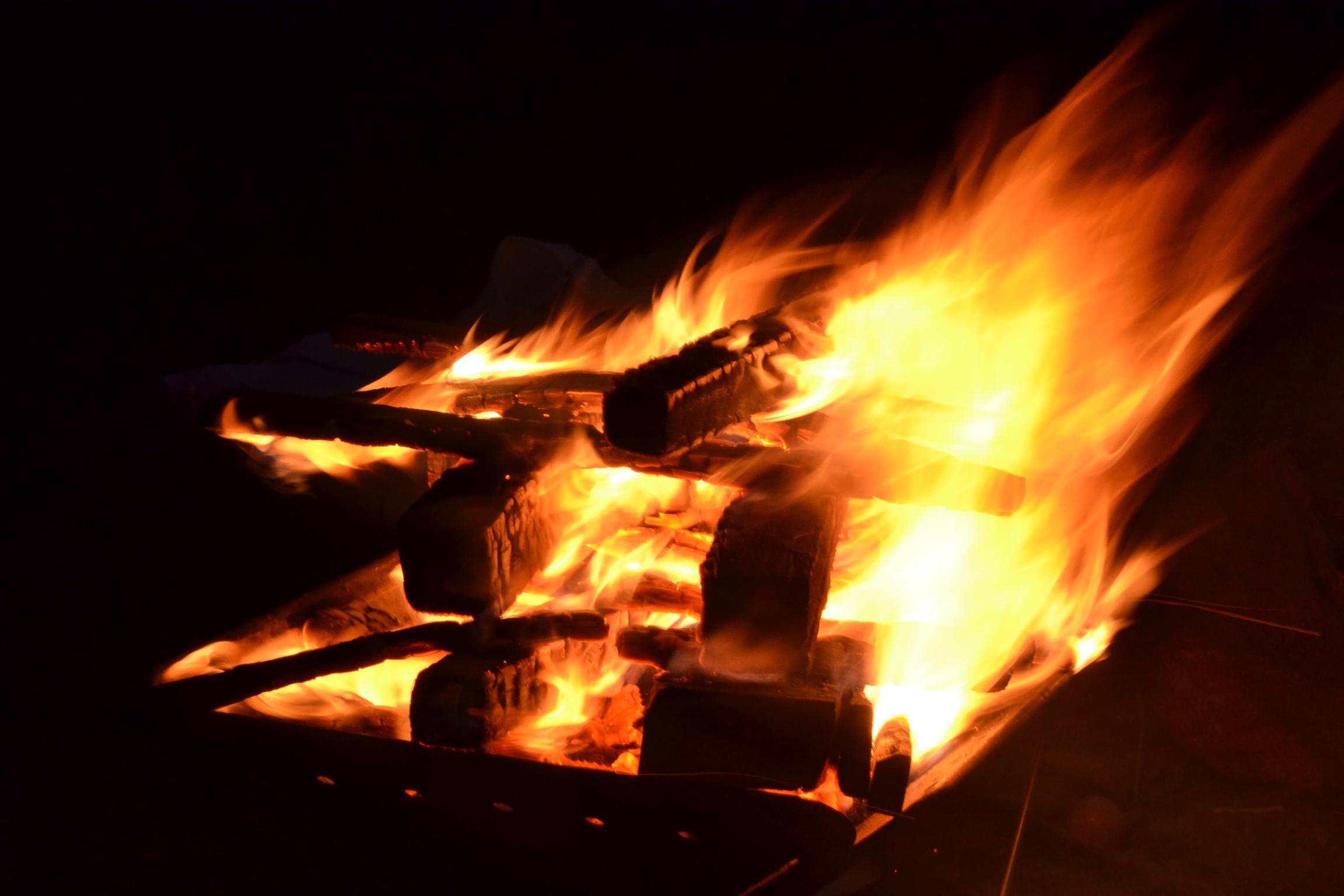 甫喜が峰 キャンプ 焚き火